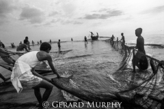 Hauling Nets and Boat,