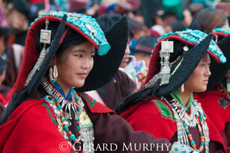 Girls of the Changthang region, Ladakh