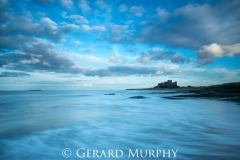 Bamburgh Castle Blue Sea