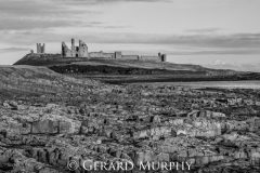 Dunstanburgh Castle Rocks (B&W)
