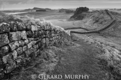 Hadrians Wall Cuddy's Crag B&W