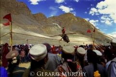 Balancing Act Beneath Ki Monastery