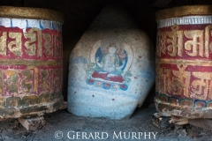 Mani Stone and Prayer Wheels