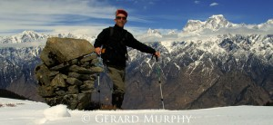 Gerard in Western Himalaya with Hathi Parbat beyond