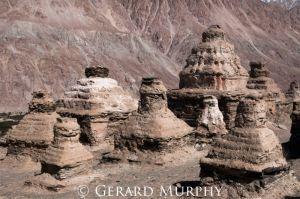 Chortens and Mountainside, Panamik