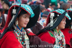 Girls of the Changthang region, Ladakh