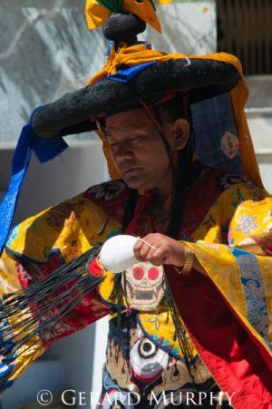 Monk performing Cham Dance, Ladakh