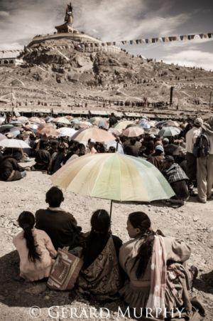 Maitreya Buddha and Pilgrims