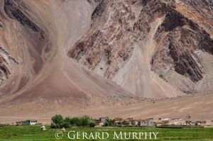 Scree over Village, Zanskar
