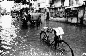 Abandoned Bike in Flood, Kolkata