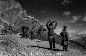 Leaving Ki Monastery, Spiti
