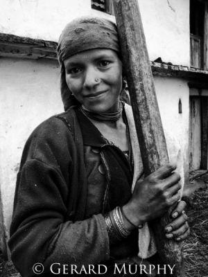 Potrait of Woman from Wan, Uttaranchal