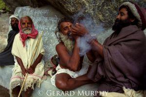 Smoking Sadhus'