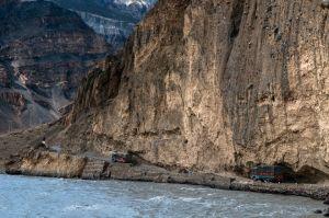 Spiti River Traffic