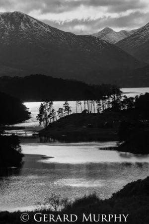 Loch Affric BW (portrait)