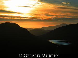 Sunset over Loch Calavie